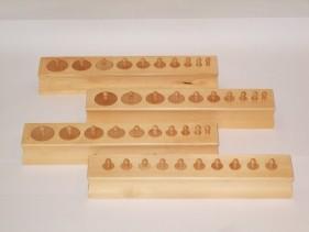 knobbed Cylinder Blocks (Set of 4)