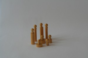 Set of replacement knobbed cylinders                        (2 smallest of each cylinder )