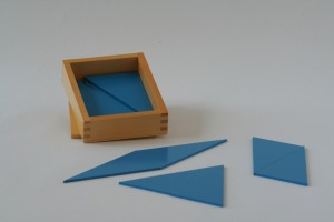 Box of Blue Triangles