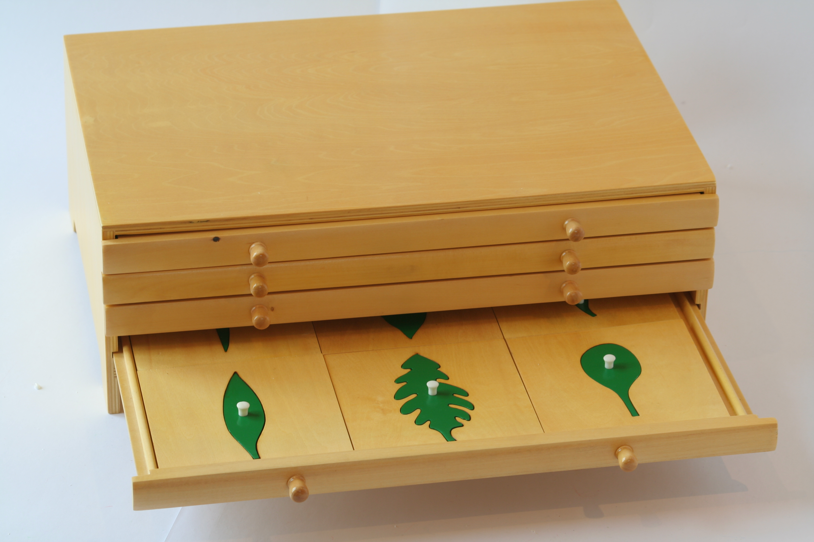 Botany leaf cabinet with insets | Montessori Pre-School Supplies