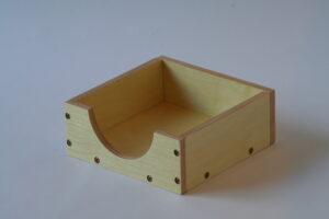 Inset paper holder
