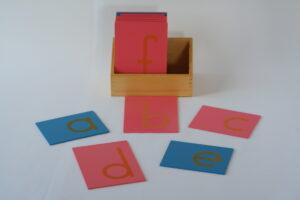 Sandpaper Letters, Lower Case Print,+ Box