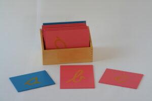 Sandpaper Letters, Lower Case Cursive,+ Box