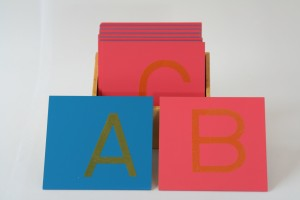 Sandpaper Letters, Capital Case Print, + Box