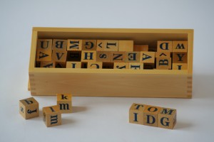 Alphabet Dice with Box