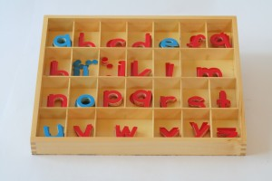 Small Movable Alphabet, Wood