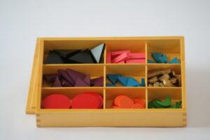 Basic Wooden Grammar Symbols with box