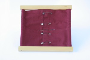 Safety Pins Dressing Frame
