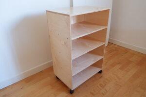 Half Standard shelf + castors (52.5 x 35 x 81.5cm)