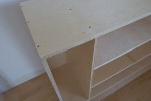 Sensorial shelf + castors (105 x 35 x 81.5cm)