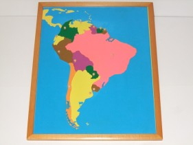 South America Puzzle Map + control map