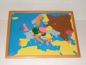 Europe Puzzle Map + control maps