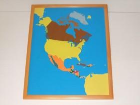 North America Puzzle Map + control map