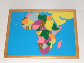 Africa Puzzle Map + control maps