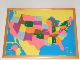 USA Puzzle Map + control maps
