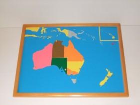 Australia Puzzle Map + control maps