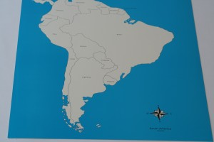 2 Control maps of South America (labelled +unlabelled)
