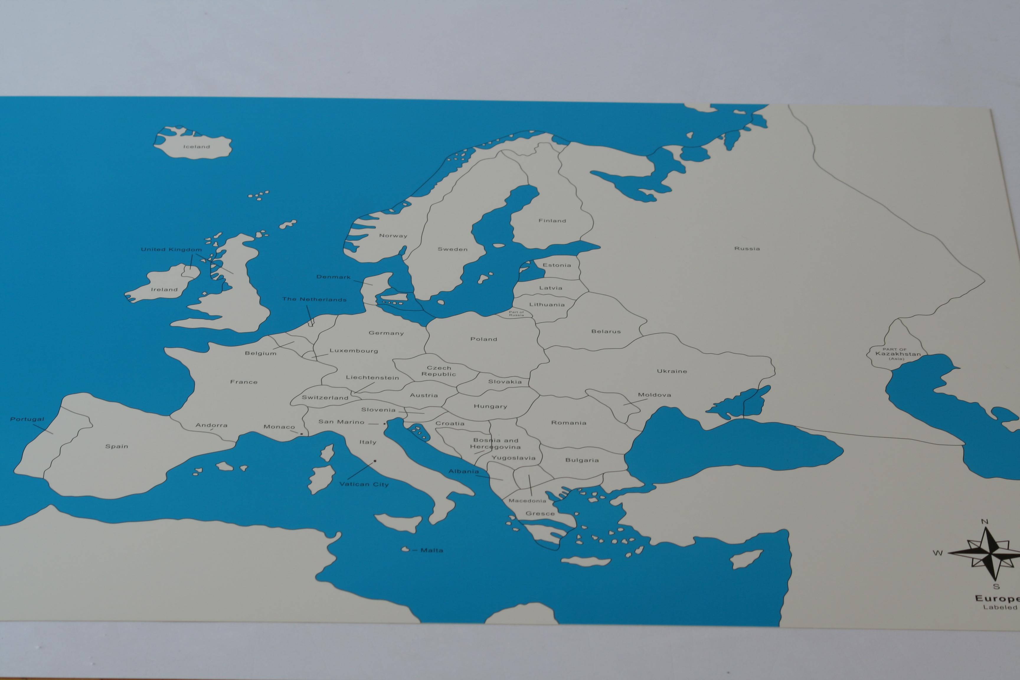 2 Control Maps Of Europe Labelled Unlabelled Montessori Pre School Supplies
