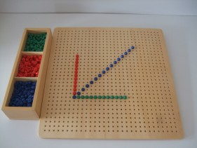 Wooden board with pegs