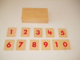 Number cards for number rods