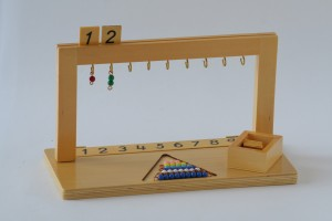 hanger for coloured bead stairs includes beads