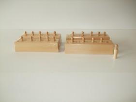 Mini knobbed cylinders x 4