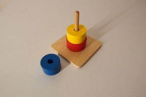 3 discs on vertical dowel