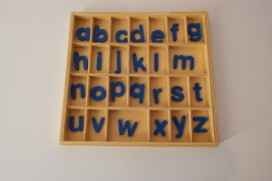 alphabet box with single set of letters