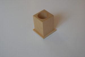 Single pencil holder natural timber