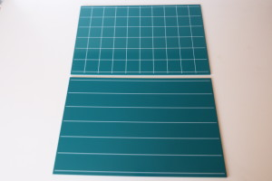 Greenboards With Lines And Square