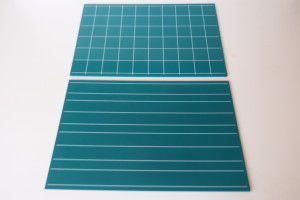 Greenboards With Double Lines And Squares