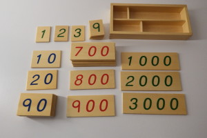 Small Wooden Number Cards With Box (1-3000)