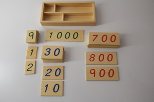 Small Wooden Number Cards With Box (1-1000)