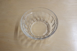 Glass bowl 7cm                      3.5 cm high