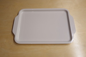 Melamine tray with handles (large)35x23cm